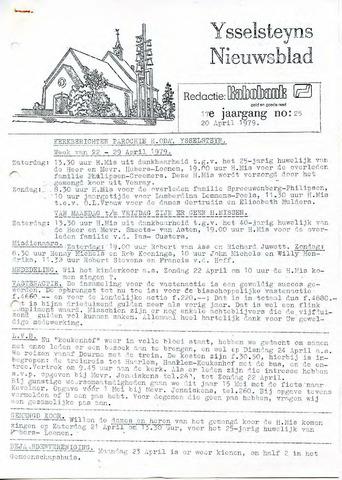 Ysselsteyns Nieuwsblad 1979-04-20