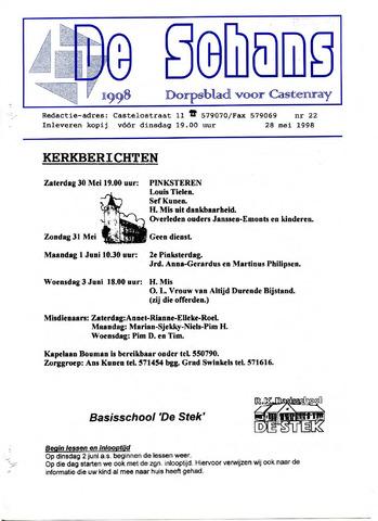 Castenrays dorpsblad De Schans 1998-05-28