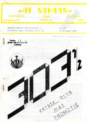 Castenrays dorpsblad De Schans 1983-11-11