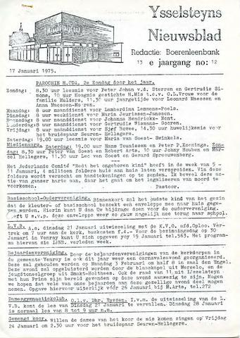 Ysselsteyns Nieuwsblad 1975-01-17