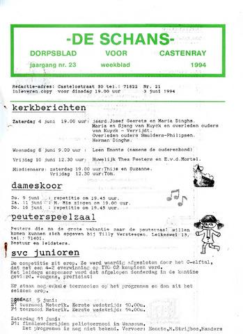 Castenrays dorpsblad De Schans 1994-06-03