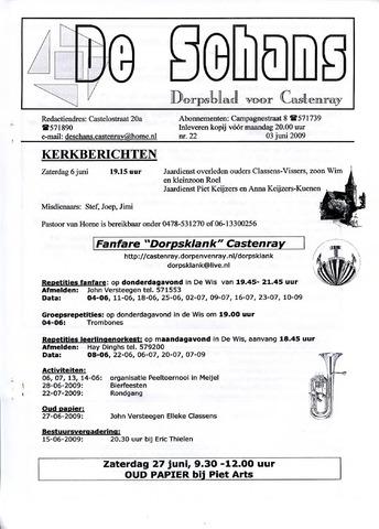 Castenrays dorpsblad De Schans 2009-06-03