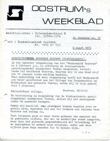Oostrum's Weekblad 1973-03-09