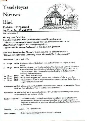 Ysselsteyns Nieuwsblad 1999-04-16