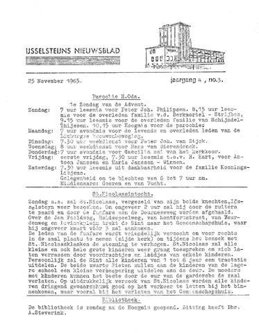Ysselsteyns Nieuwsblad 1965-11-25