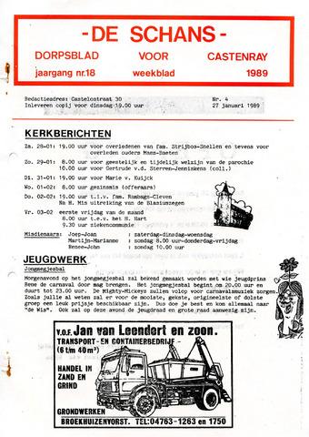 Castenrays dorpsblad De Schans 1989-01-27