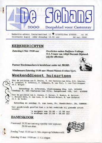 Castenrays dorpsblad De Schans 2000-05-04