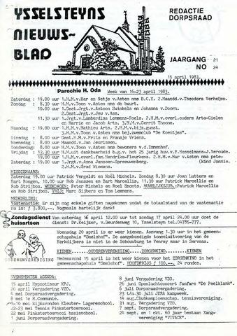 Ysselsteyns Nieuwsblad 1983-04-15