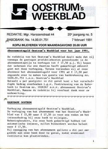 Oostrum's Weekblad 1991-02-07