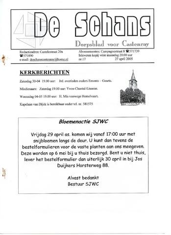 Castenrays dorpsblad De Schans 2005-04-27