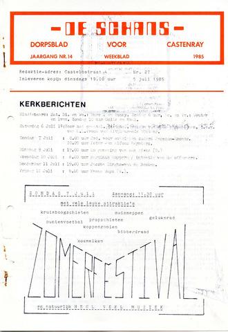 Castenrays dorpsblad De Schans 1985-07-05