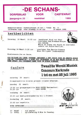 Castenrays dorpsblad De Schans 1993-03-19