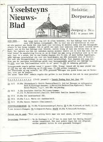 Ysselsteyns Nieuwsblad 1994-01-14