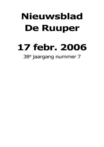 Dorpsblad Leunen-Veulen-Heide 2006-02-17