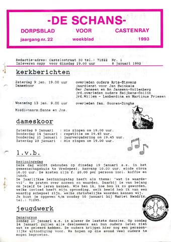 Castenrays dorpsblad De Schans 1993-01-08