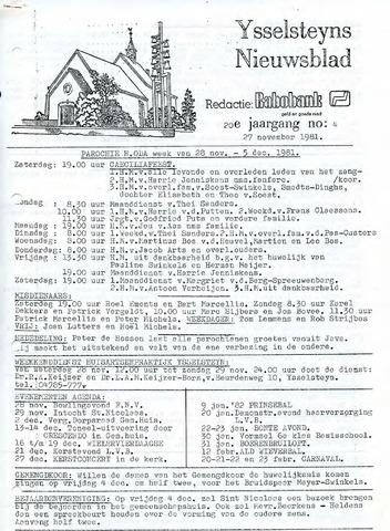 Ysselsteyns Nieuwsblad 1981-11-27