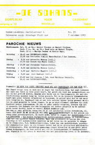 Castenrays dorpsblad De Schans 1983-10-07