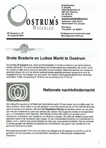 Oostrum's Weekblad 2009-08-20