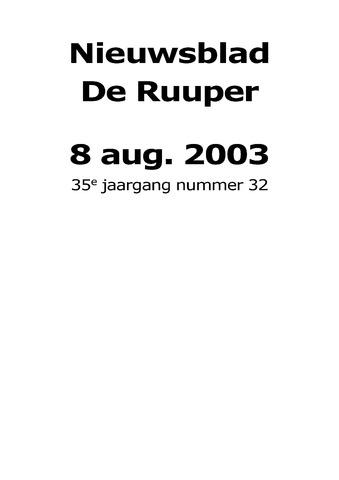 Dorpsblad Leunen-Veulen-Heide 2003-08-08
