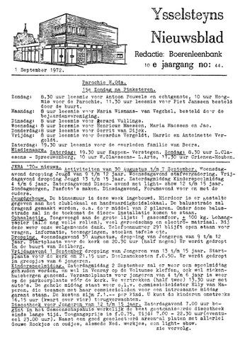 Ysselsteyns Nieuwsblad 1972-09-01