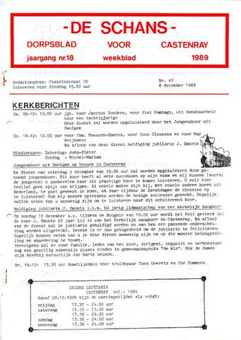 Castenrays dorpsblad De Schans 1989-12-08