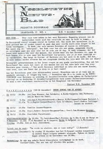 Ysselsteyns Nieuwsblad 1988-12-09