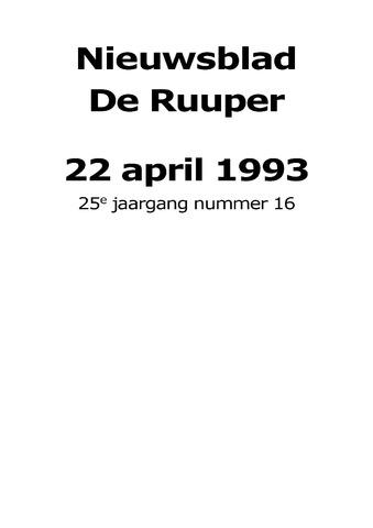 Dorpsblad Leunen-Veulen-Heide 1993-04-22