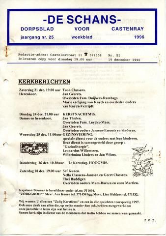 Castenrays dorpsblad De Schans 1996-12-19
