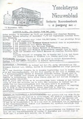 Ysselsteyns Nieuwsblad 1975-09-19