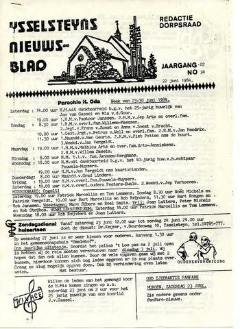Ysselsteyns Nieuwsblad 1984-06-22