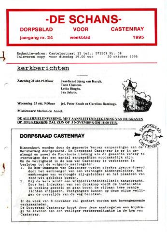 Castenrays dorpsblad De Schans 1995-10-20