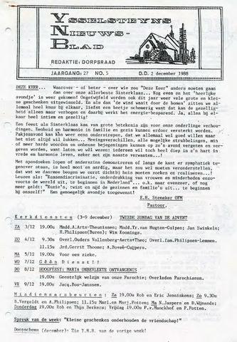 Ysselsteyns Nieuwsblad 1988-12-02