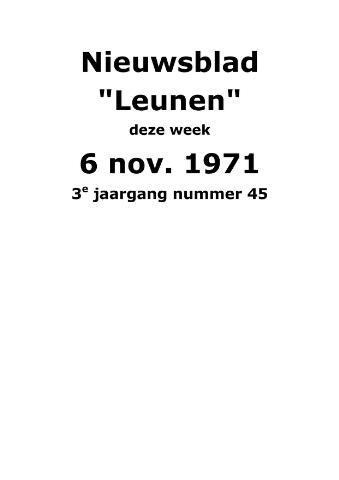 Dorpsblad Leunen-Veulen-Heide 1971-11-06