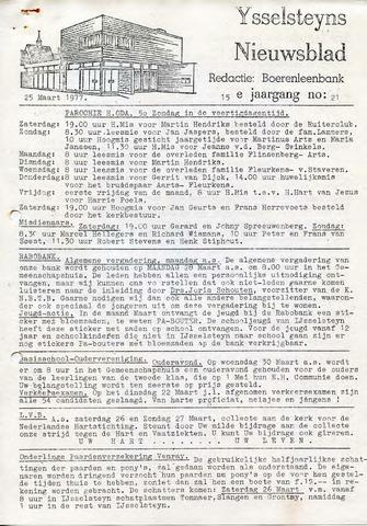 Ysselsteyns Nieuwsblad 1977-03-25