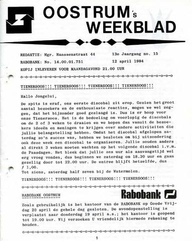 Oostrum's Weekblad 1984-04-12