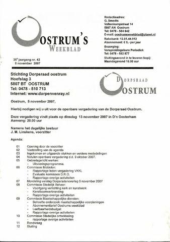 Oostrum's Weekblad 2007-11-08