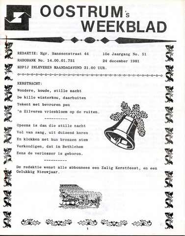 Oostrum's Weekblad 1981-12-24