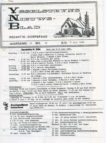 Ysselsteyns Nieuwsblad 1986-07-04