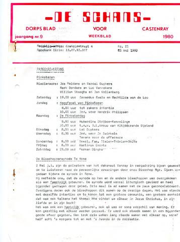 Castenrays dorpsblad De Schans 1980-05-23