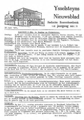 Ysselsteyns Nieuwsblad 1974-06-28