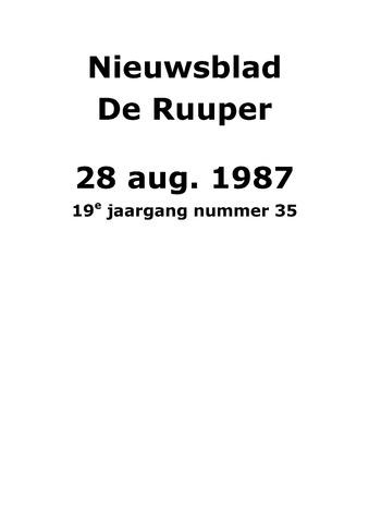 Dorpsblad Leunen-Veulen-Heide 1987-08-28