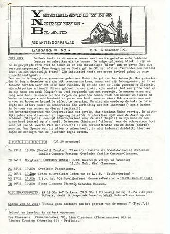 Ysselsteyns Nieuwsblad 1991-11-22
