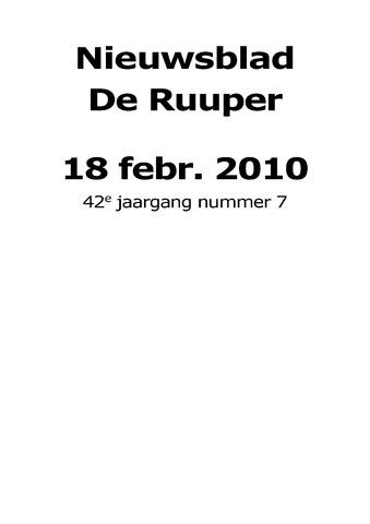 Dorpsblad Leunen-Veulen-Heide 2010-02-18