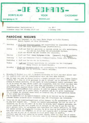Castenrays dorpsblad De Schans 1981-10-09