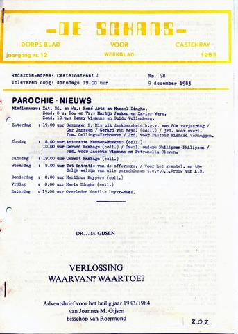 Castenrays dorpsblad De Schans 1983-12-09
