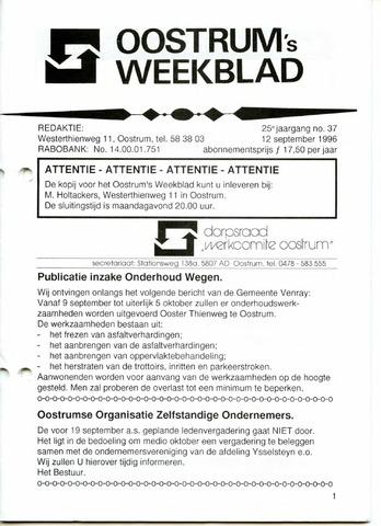Oostrum's Weekblad 1996-09-12