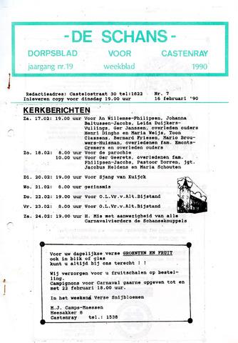 Castenrays dorpsblad De Schans 1990-02-16