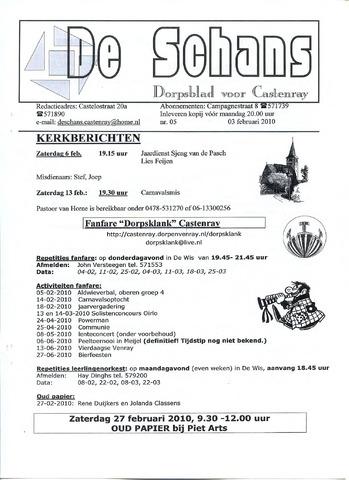 Castenrays dorpsblad De Schans 2010-02-03