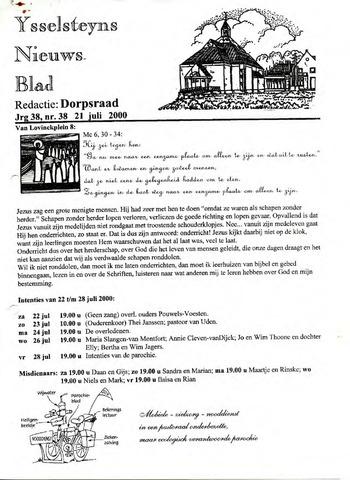 Ysselsteyns Nieuwsblad 2000-07-21
