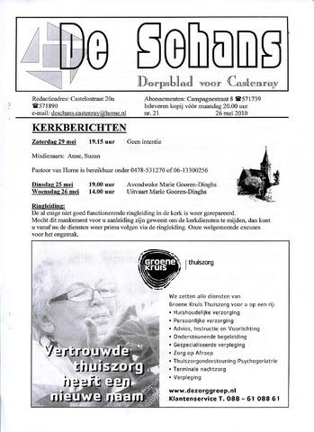 Castenrays dorpsblad De Schans 2010-05-26